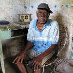 Seu Silvano, 86, raised 21 children in a mangrove community near Caravelas.
