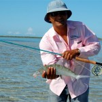 Bonefish are one of several prized sports fish (also tarpon and permit) which can be caught at Las Salinas.