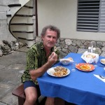 Croc encounter of the culinary kind at Playa Larga.